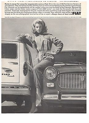 1965 Fiat 1100 Drive It Home To Rome Vintage Original Italian Car Ad