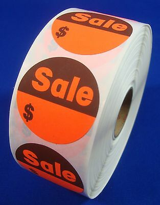"1000 Self-Adhesive Sales $ Labels 1 3/8"" Stickers / Tags Retail Store Supplies"