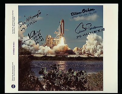 STS-66 signed NASA Photograph NASA Shuttle Astronauts 4 signatures