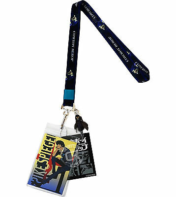 Cowboy Bebop Spike Lanyard ID Badge Holder & Metal Spike Charm Official Licensed