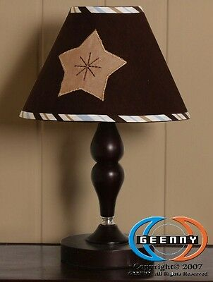 Lamp Shade Brown Blue Moon & Star By GEENNY designs