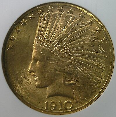 $10 1910-D Indian Head Gold Eagle NGC MS64 * AvenueCoin