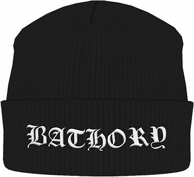 BATHORY Classic Band Logo White BEANIE MÜTZE KNITTED SKI HAT OFFICIAL MERCH