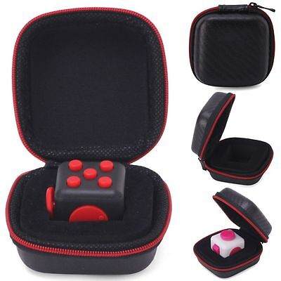 Fidget Cube Case Anxiety Stress Relief Focus Dice Bag Carrying Case Packet