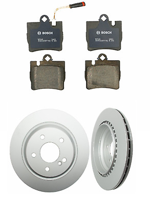 S500 S430 Front Rear  Blank Brake Rotors+Semi-Met Pads For Mercedes-Benz CL500