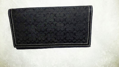 Coach Cloth & Leather Checkbook Holder - Classic Beauty!