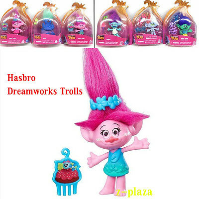 """3.5""""inch Dreamworks Trolls Kids Collectable Figure Fun Girls Dress Up Toys Gifts"""