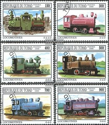 Chad 2015-2020 (complete.issue.) fine used / cancelled 1999 Locomotives