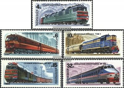 Soviet-Union 5175-5179 (complete.issue.) fine used / cancelled 1982 Locomotives