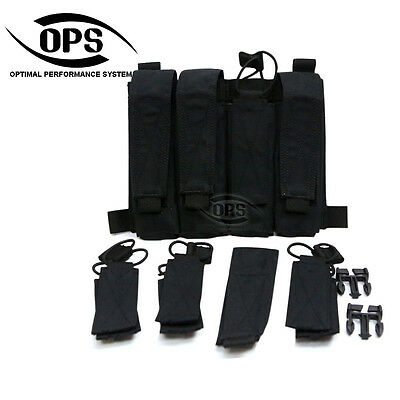 OPS/UR-TACTICAL QUATTRO SMG MAGAZINE POCKET/PANEL IN BLACK, mp5,mp7,mp9