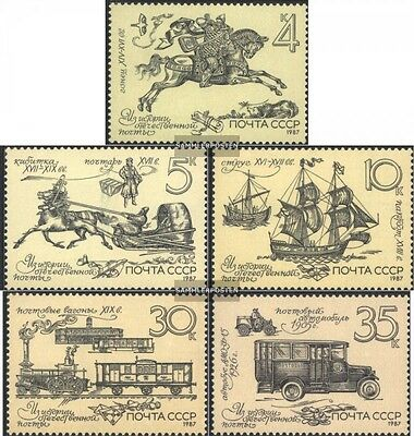 Soviet-Union 5742-5746 (complete.issue.) unmounted mint / never hinged 1987 Hist
