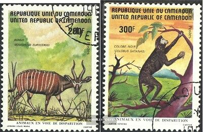 Cameroon 983-984 (complete.issue.) fine used / cancelled 1982 Endangered Animals
