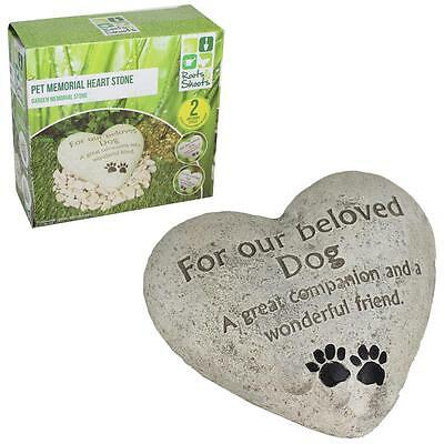 Heart Shaped Memorial Plaque Memory Stone - Our Beloved Dog