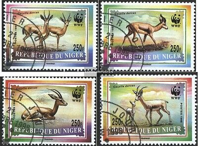 Niger 1460-1463 (complete.issue.) fine used / cancelled 1998 Conservation: dorka