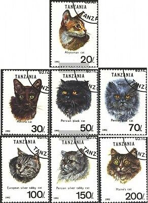 Tanzania 1405-1411 (complete.issue.) fine used / cancelled 1992 Cats