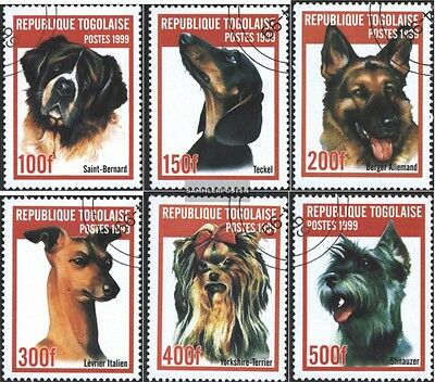Togo 2823-2828 (complete.issue.) fine used / cancelled 1999 Breeds