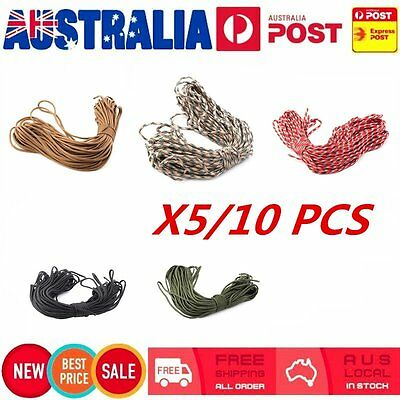 5/10 X 550 Paracord Parachute Cord Lanyard Mil Spec Type III 7 Strand Core100LOT