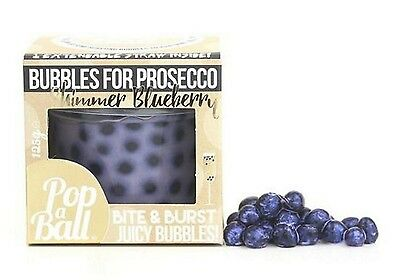 Popaball Bursting Bubbles Shimmer Blueberry Flavour Prosecco Cocktail Extra Gift