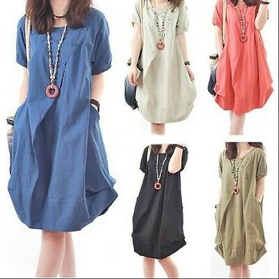 Pregnant Dress Summer Women Maternity Short Sleeves Casual Clothes Plus Size