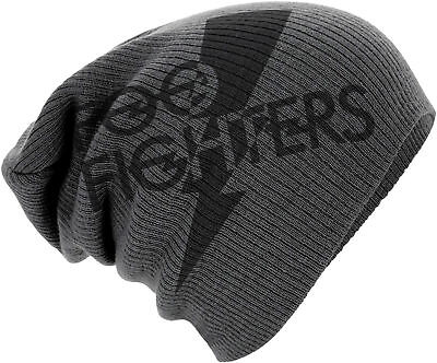 FOO FIGHTERS DAVE GROHL Classic Band Logo SLOUCH BEANIE MÜTZE KNITTED SKI HAT