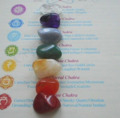 Chakra Set - 7 Healing Crystals (Colorful) - Chakras, Healing, Reiki, Meditation