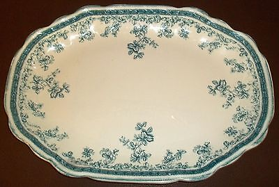New Wharf Pottery 'Eastwood' Platter 1890s England Antique