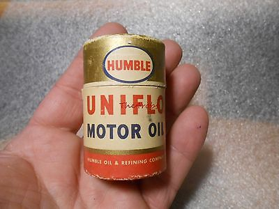 Humble Uniflo Motor Oil Can Shaped Match Box with Matches