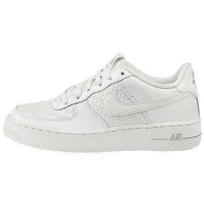 size 40 e4675 83f46 Nike Air Force 1 LV8 Big Kids 820438-105 Summit White Woven Shoes Youth Size