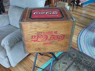 All Wood coke-Cola case LP Record Storage by Vintage Editions Taylorsville NC