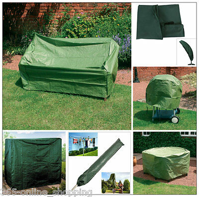 New Heavy Duty Waterproof Outdoor Green Garden Furniture BBQ Cover UV Protected