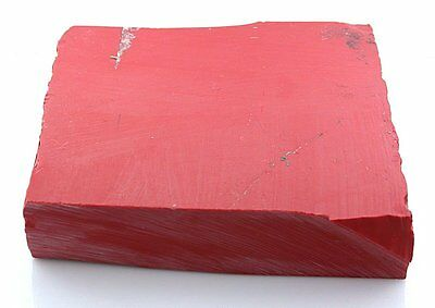 464.5 Gram Carving Slab Block Red Coral Synthetic Cab Cabochon Rough SB25