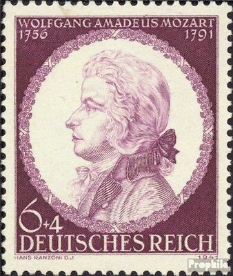 German Empire 810 (complete issue) used 1941 W. A. Mozart