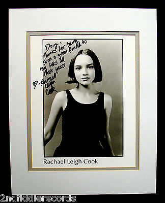 RACHAEL LEIGH COOK-Autographed & Inscribed Photograph Display-SHE'S ALL THAT
