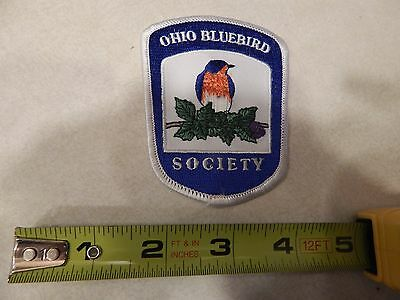 Vintage Ohio Bluebird Society Embroidered Patch