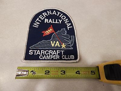 Vintage Embroidered Patch--Starcraft  Camper Club 1994  Int. Rally-Virginia
