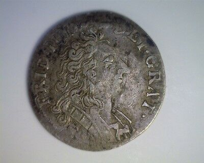 Norway 1707 Silver 8 Skilling KM#209