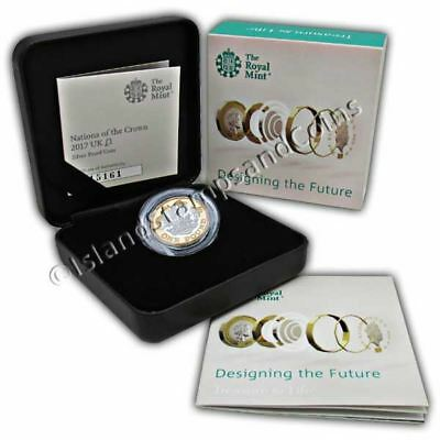 Nations of the Crown 2017 UK £1 Coin Silver Proof Coin