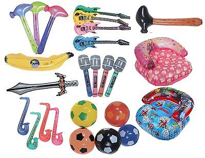 Inflatable Childrens Blow Up Toy Kids Swimming Play Ball Hammer Chair Guitar
