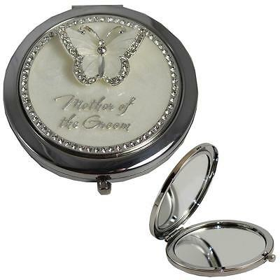 Butterfly Design Wedding Gift Compact Mirror - Mother of the Groom