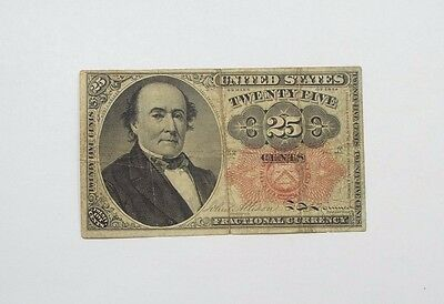US Fractional Currency 25-Cents Note 5th Issue 1874-1876 FINE