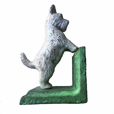 Vintage Set Pair of Heavy Cast Iron Scotty Dog Bookends