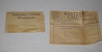 VINTAGE Oct. 27th, 1954 WESTERN UNION TELEGRAM in New York