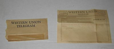 VINTAGE Aug. 20th, 1959 WESTERN UNION TELEGRAM in New York