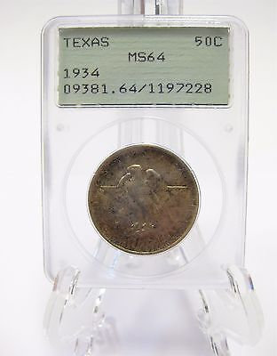 1934 Texas Centennary Commemorative Half Dollar PCGS MS64 Free US Shipping