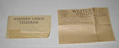 VINTAGE Dec. 28th, 1954 WESTERN UNION TELEGRAM in New York