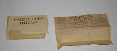 VINTAGE Feb 2nd, 1955 WESTERN UNION TELEGRAM in New York