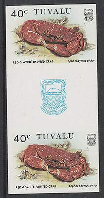 Tuvalu 3091 - 1986 CRABS  40c  IMPERF GUTTER PAIR unmounted