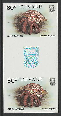 Tuvalu 3093 - 1986 CRABS  60c  IMPERF GUTTER PAIR unmounted