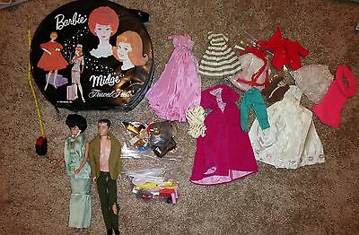 Large Barbie Ken Vintage Lot with case, clothes and accessories