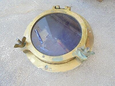 "10"" Od Inch Bronze Porthole Port Ship Boat Brass Man Cave"